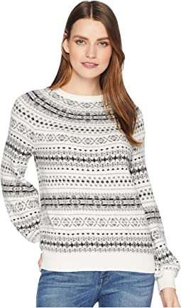 Fair Isle Cotton Blend Sweater