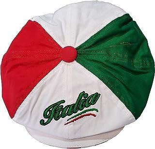 Tri-Color Italia Script Gatsby Cap - Italy Collection of Italian Pride Products at PSILoveItaly