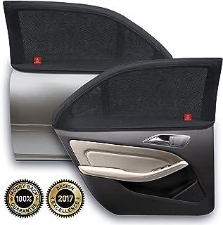 ROYAL RASCALS | Funda para ventana x2 | PROTECCIÓN UV 40+ contra los nocivos rayos solares ultravioleta | Cobertura del 100% de la ventana | Tamaño universal para todos los coches | Material premium