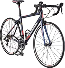 Schwinn Fastback 2 Performance Road Bike for Beginner to Intermediate Riders, Featuring 55cm/Large Aluminum Frame, Carbon Fiber Fork, Shimano Sora 18-Speed Drivetrain, and 700c Wheels, Navy Blue