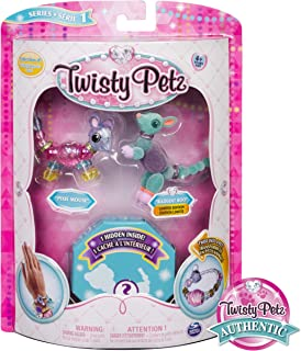 Twisty Petz Collectible Bracelet Set, Mouse, Roo & Surprise Pet 3-Pack