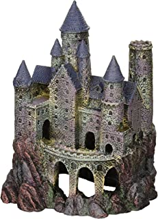 Penn-Plax Wizard's Castle Aquarium Decoration Hand Painted with Realistic Details Over..