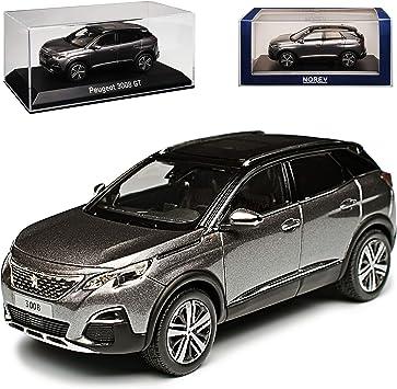 Norev Peugeot 3008 Gt Platinium Grau Mit Schwarzem Dach 2 Generation Ab 2016 1 43 Modell Auto Spielzeug