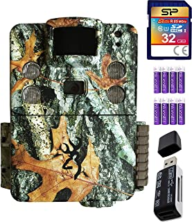Browning Trail Cameras BTC-5HD-APX Strike Force HD Apex 18MP Game Cam (Camo) Bundle with SB 2.0 Card Reader, Silicon Power 32GB Class 10 SDHC SD Card, and 8 AA Batteries