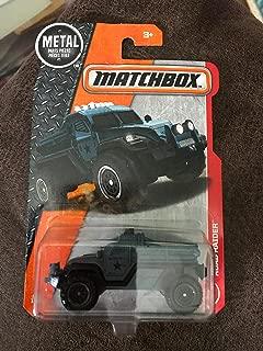 Matchbox 2017 MBX Adventure City Road Raider (Military Truck) 67/125, Blue Gray