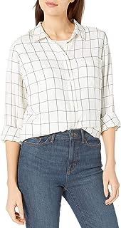 Amazon Brand - Goodthreads Women's Modal Twill Long-Sleeve Oversized Boyfriend Shirt