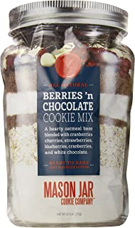 The Mason Jar Cookie Company Berries and Chocolate Cookie Mix in a Pouch, 20.2 Ounce
