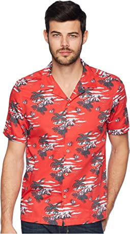 Bliss Short Sleeve Tropical Pattern Shirt