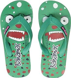 Bahamas Unisex Kid's Green Red Slippers-11 UK (29 EU) (BHK008C_GRRD0011)