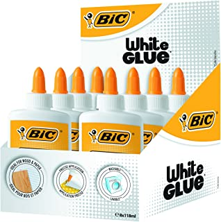 Exp. 8 botes Cola blanca Bic 118 ml.