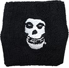 Cool-Patches Misfits Crimson Ghost Skull Band Logo Wristband Sweatband Horror Punk Music