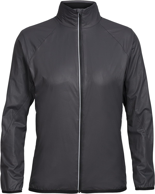 Icebreaker Merino Women's Rush Windbreaker Jacket for Trail Running & Hiking, Lightweight Merino Wool Liner
