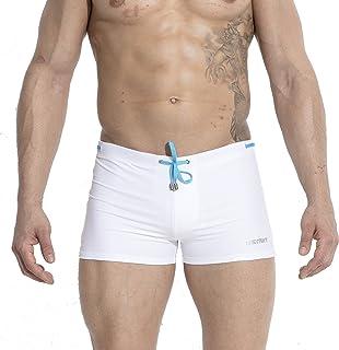 16cc10dc1b99 GOGOHOT Mens Swim Trunks Nylon Swimwear Compression Swimsuit with Removable  Pad
