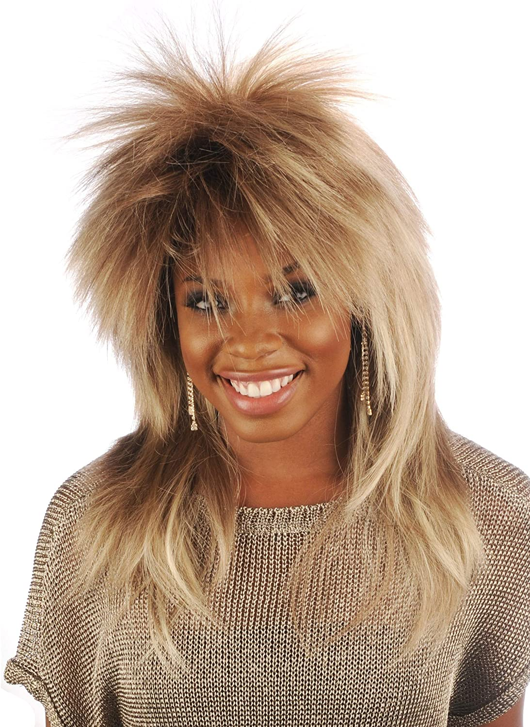 Regular store Tina Cheap mail order shopping Turner Wig Character Theatrical Deluxe - 1980's Costume