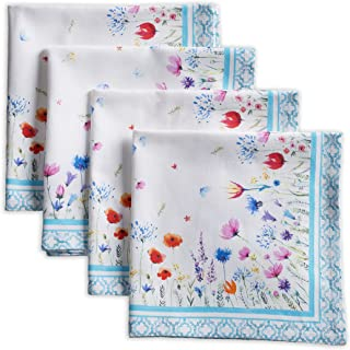Maison d' Hermine Flower in The Field 100% Cotton Set of 4 Napkins 20 Inch by 20 Inch