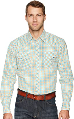 20X Long Sleeve Two-Pocket Competition Ac Snap Plaid