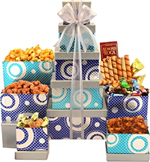 Gourmet Celebration Gift Tower with Gourmet Popcorn, Cookies & Assorted Sweets
