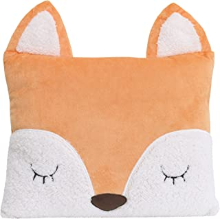 Little Love by NoJo Fox Shaped Pillow, Tangerine
