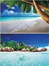 GREAT ART Juego de 2 carteles XXL vista al mar y a la playa Decoración de Pared sensación de vacaciones set - Foto-Poster de Pared - Foto Mural (140 x 100 cm)
