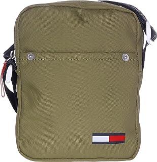 حقيبة كتف كول سيتي صغيرة نايلون للرجال من تومي جينز، لون اخضر- AM0AM05917