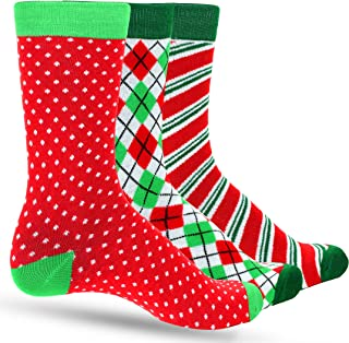 Christmas Socks For Men: Argyle, Striped, Dots Men's Holiday Mens Dress Sock Colorful