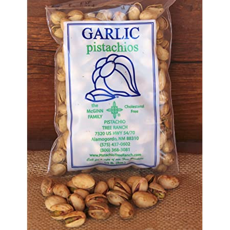 Garlic Pistachios 8 oz. bag