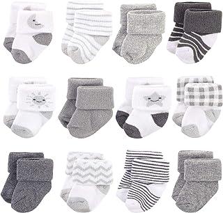Hudson - Calcetines unisex de algodón para bebé