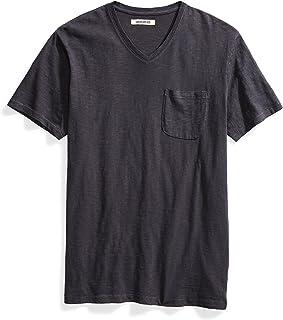 Amazon Brand - Goodthreads Men's Lightweight Slub V-Neck Pocket T-Shirt