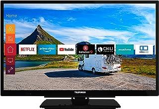 Telefunken Xf22G501V LED-Televisie, 22 inch, Full HD, Triple Tuner, Smart Tv, Prime Video, 12 V, Alexa, Zwart