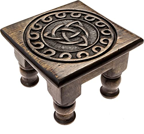 popular Carved Wooden Triquetra outlet sale Altar Table online - 6 Inches Wide, 4 Inches Tall outlet online sale
