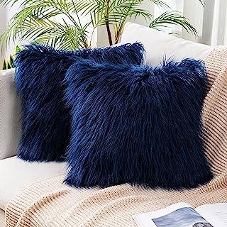 Gift Pillow Farmhouse Decor Mom Gift Nautical Pillow Beach House Pillow 2 pieces Set Royal Blue Velvet Yacht Pillowcase Ship Pillow