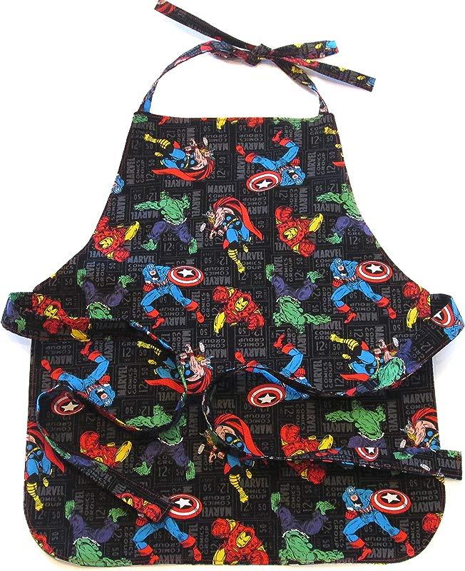 Handmade Toddler Boy Reversible Apron Age 2 6 Baking Cooking Play Arts Crafts Preschool Kindergarten Montessori