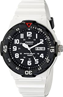 Casio Men 's mrw-200hc-7bvcf clásico de acero inoxidable reloj blanco