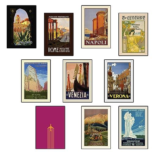 A4 Vintage Travel Posters London Set