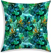 RADANYA Modern Tropical Leaves Throw Pillow Cover Decorative Pillows Square Cushion Covers Sofa Home Decor 30 cm x 30 cm-I...