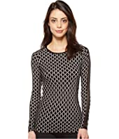 Trina Turk - Geo Knit Long Sleeve Top