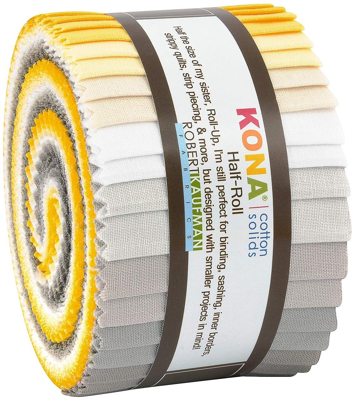 Robert Kaufman Kona Cotton Solids Sunny Side Up Half Roll 2.5