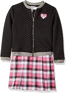 Youngland Girls' Little 2 Pc Set, Dress with Bomber Jacket