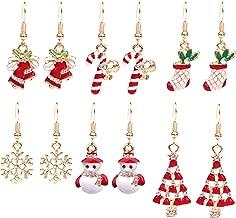 Paxuan Womens Girls Cute Christmas Drop Dangle Earrings Jewelry Sets for Christmas Womens Girls Kids