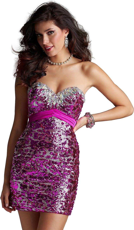 Clarisse Women's Sequin Bodycon Cocktail Dress 2262