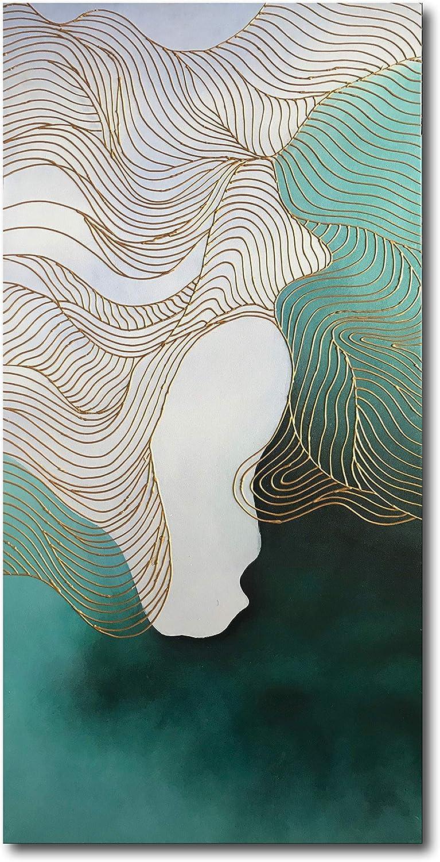 Diathou Art 48x24 Atlanta Mall Oakland Mall inch abstract oil painting ca modern on canvas