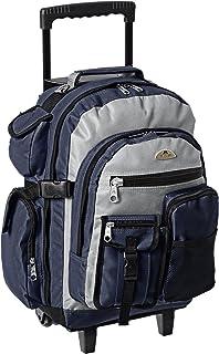 Everest Deluxe–Mochila con ruedas, negro, gris, azul marino, (Navy/Gray/Black), Una talla