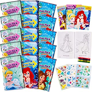 Set Of 15 Princess Play Packs Fun Party Favors Coloring Book Crayons Stickers