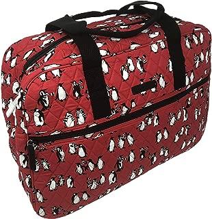 Medium Traveler Bag in Playful Penguins Blue (Playful Penguins Red)