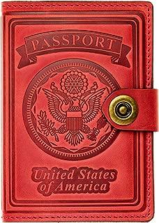 red passport holder