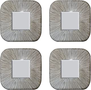 AFD Home 11139526 Quad Mirror, Classic Silver Finish, Set of 4