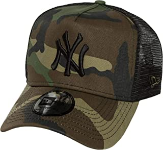 finest selection 68e2c c0863 Woodland Camo Black New York Yankees Clean A-Frame Trucker Cap by New Era
