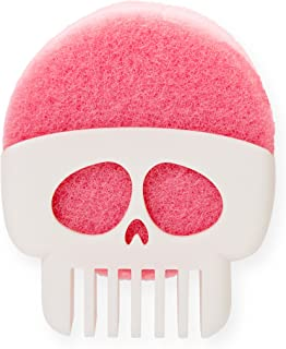 PELEG DESIGN Brain Drain White Skull Sponge Holder for Kitchen, Bath, or Sink, Drains and Dries All Types of Sponges, 1 Sponge Included