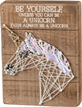 Primitives by Kathy Always Be Yourself Unless You Can Be A Unicorn 6 x 8 String Art Wood Sign Decor