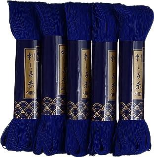 Dharma Tehen Garn Handarbeit Garn fein 170m col.6 col.6 col.6 Blau 5 Kase Set B00KOOILU8  Zu einem erschwinglichen Preis 00335e
